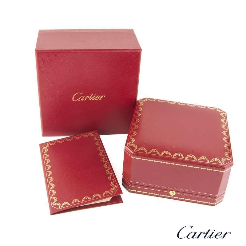Cartier White Gold Pave Diamond & Ceramic Love Bracelet Size 18 N6032418